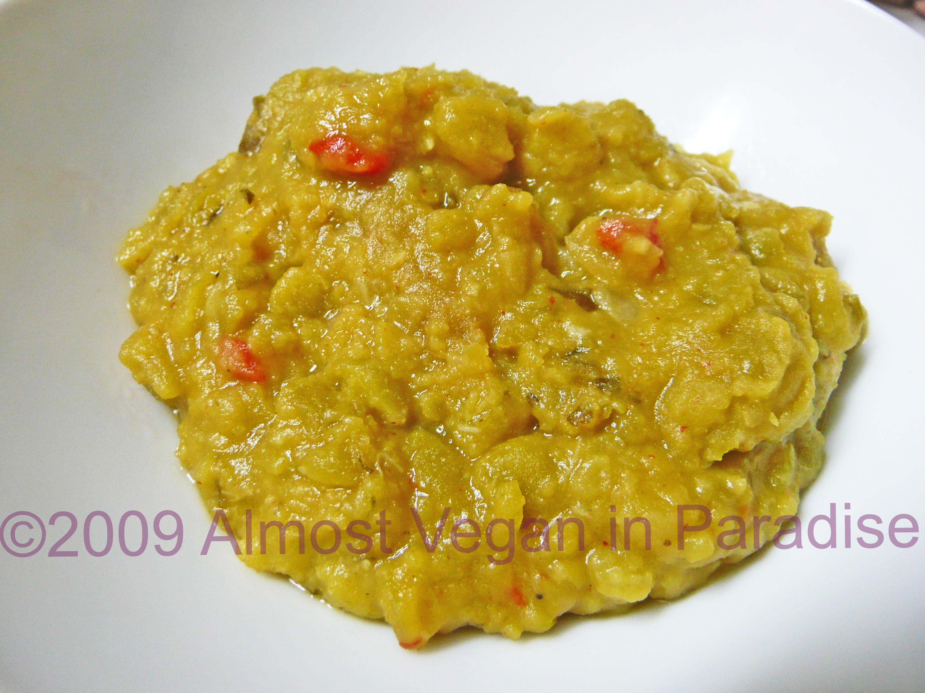 North African Split Pea Stew (Bissara)