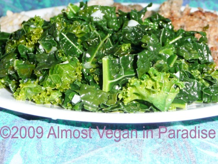 Sauteed kale with garlic packs a nutritional whallop!