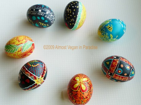Some of our decorated eggs