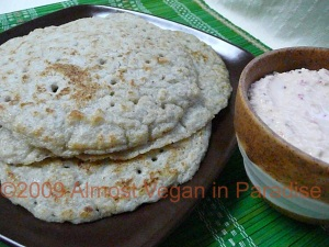 Uttapam and Coconut Chutney