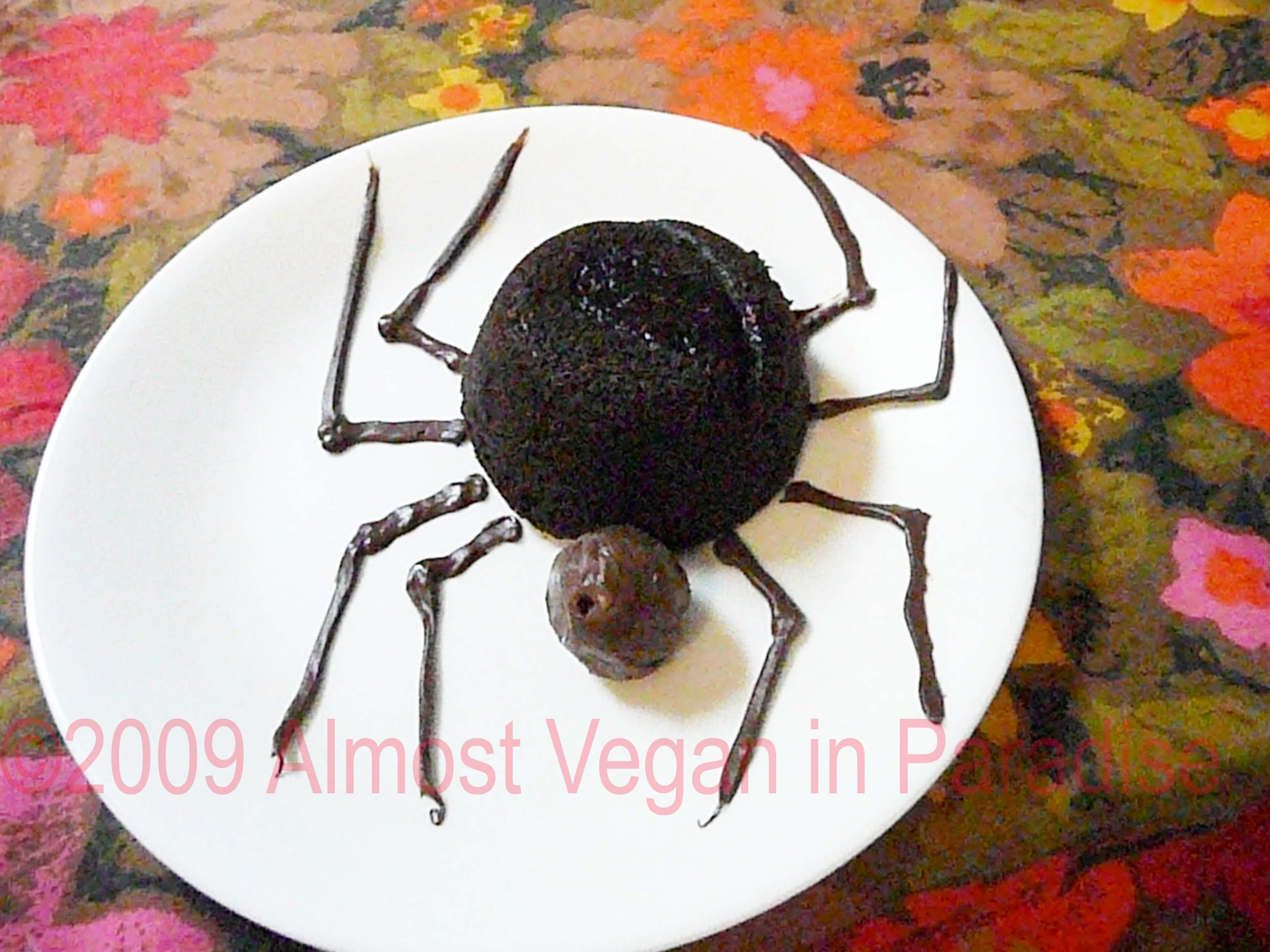 black widow spider cake