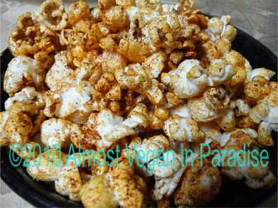 healthy halloween treat bloody popcorn