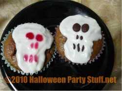 skull halloween cupcakes