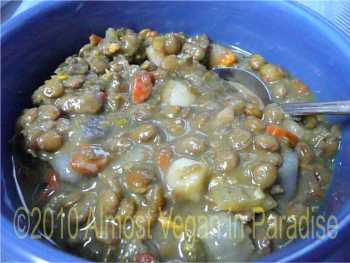 vegan curried lentil soup