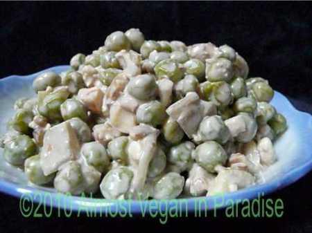 pea salad with feta cheese