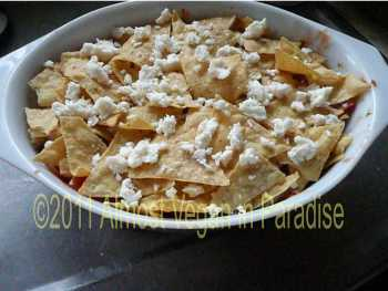 chilaquiles are ready to bake