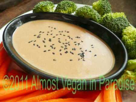 vegan spicy peanut dip or sauce
